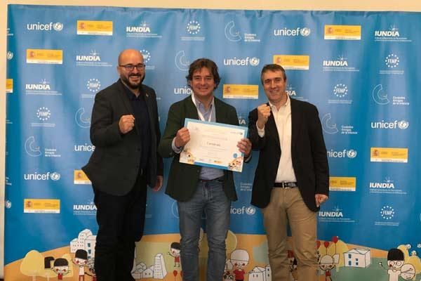 El sello otorgado por UNICEF reconoce la labor para mejorar el bienestar del menor y fomentar la participación