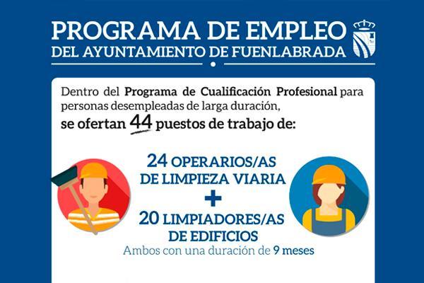 Fuenlabrada ofrece empleo para 44 personas desempleadas