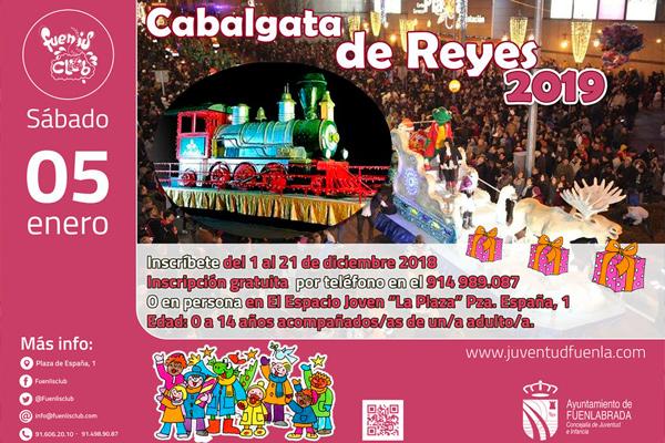 Del 1 al 21 de diciembre podéis inscribiros en la Cabalgata para ir con Fuenli en su carroza.
