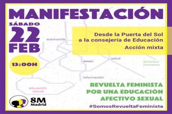 La Comisión 8M ha convocado este sábado la siguiente acción en este mes de #revueltafeminista