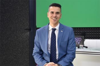 Israel Díaz, durante su visita a los estudios de SDO