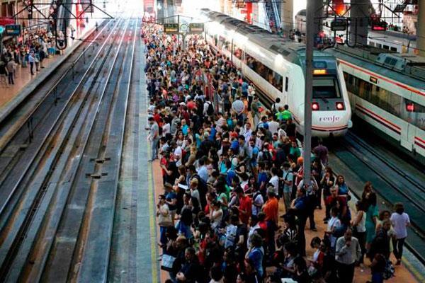 Huelgas de todos los colectivos de RENFE y ADIF