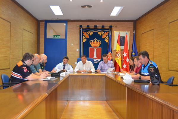 El Gobierno local se ha reunido con Guardia Civil, Protección Civil de Leganés y Policía Local