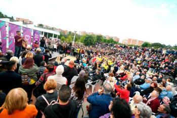 El secretario general de Podemos reclamaba el voto para Unidas Podemos en las autonómicas, municipales y europeas