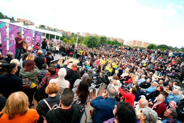 """Iglesias reivindica """"un gobierno progresista"""" en la Rivota"""