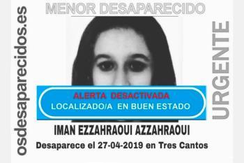 La menor desaparecida hace casi un mes en Tres Cantos, Madrid, ha sido localizada