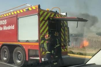 Segundo incendio en menos de dos meses en esta zona de Fuenlabrada