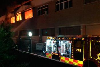 El incidente se produjo alrededor de las dos de la madrugada en el polígono industrial de la localidad