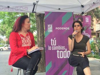 La candidata a la presidencia de la Comunidad de Madrid ha charlado con los vecinos y vecinas del municipio