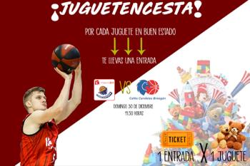 Dona al menos un juguete y llévate una entrada gratis para el partidazo de baloncesto del 30 de diciembre