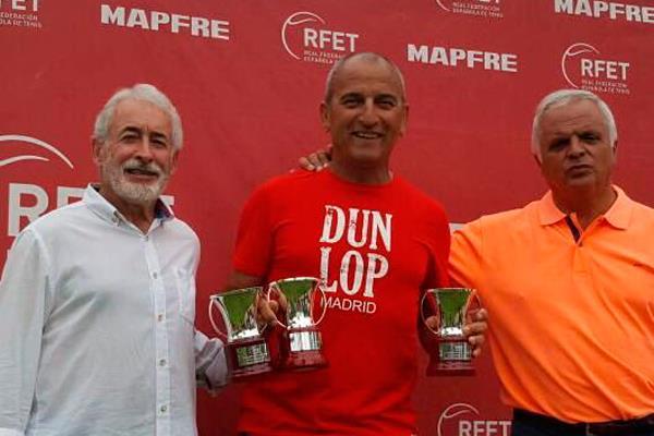 Javier Molina, triple Campeón de España de tenis