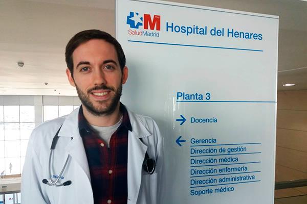Jesús Ballano, MIR del Hospital Universitario del Henares, gana el primer premio nacional Fin de Carrera