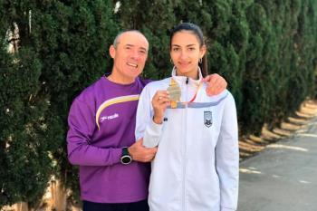 Nuestra deportista batió el récord de Madrid Sub-16 con un lanzamiento de 40,98 metros