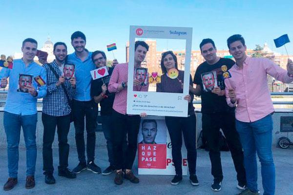 """Juventudes Socialistas de Madrid se movilizan con la campaña """"Derechos o derechas"""""""