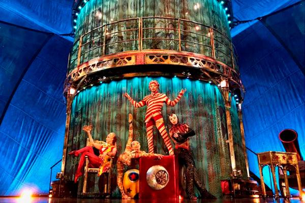 El espectáculo de 'Cirque du soleil' nos deleitará con una innovadora combinación de arte, acrobacias y payasos