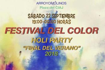 La 'Holi Party' llena de color Arroyomolinos