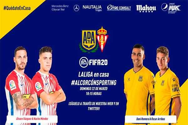 La Agrupación Deportiva Alcorcón y el Sporting se unen al fútbol virtual