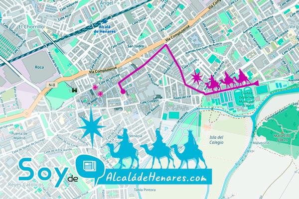 Sus Majestades los Reyes de Oriente ya conocen el recorrido de su cabalgata en Alcalá de Henares