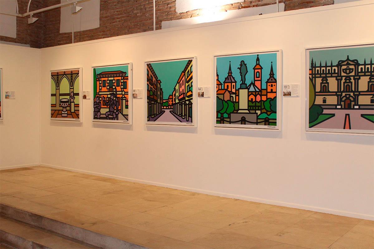La exposición versa sobre Alcalá y el Patrimonio de la Humanidad