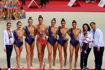 El equipo senior del Club de Gimnasia Rítmica de Torrejón ha quedado tercero de España y asciende a Primera