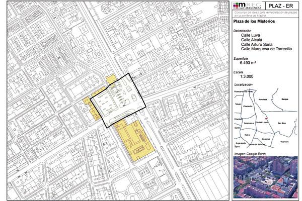 Dos localizaciones de Ciudad Lineal se reformarán para mejorar el diseño urbano y su uso por parte de la población