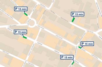 El consistorio instaló, a principios de enero, señales verticales que restringen el aparcamiento a 15 minutos
