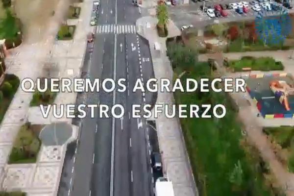 Un vídeo ha servido de trampolín a la Policía Local para agradecer el esfuerzo de la vecindad