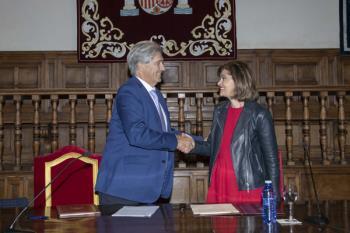 El rector y la secretaria de Estado de Seguridad han firmado dos convenios de colaboración