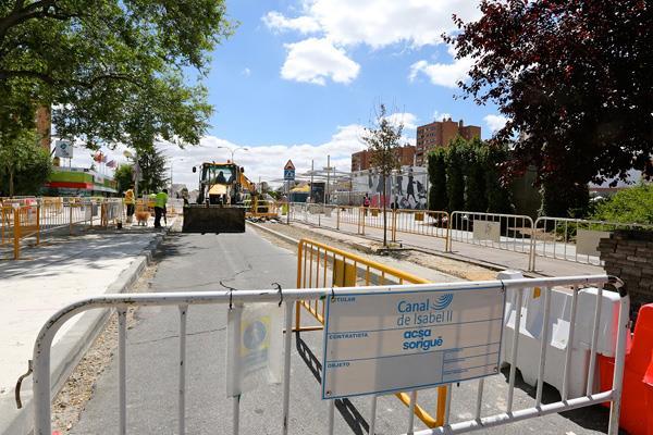 La calle Colombia sufre cortes de tráfico debido a las obras