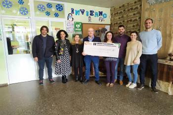 El 27 de febrero se celebró el acto de entrega del cheque solidario con lo recaudado en el II Cross Aniversario Alcalá Patrimonio Mundial