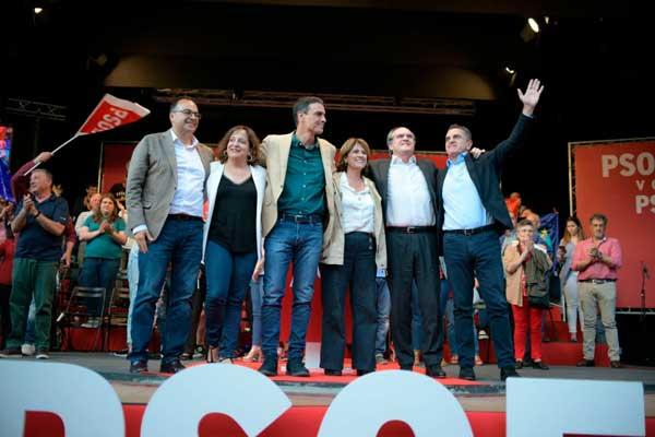 Pedro Sánchez y Ángel Gabilondo alientan a la participación masiva el próximo 26M