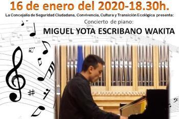 En un concierto de piano, mañana 16 de enero, en el Museo de la Ciudad