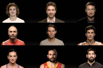 Pau Gasol, Andrés Iniesta o Marc Márquez, se han dado cita en un vídeo de presentación del torneo
