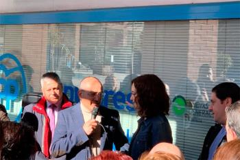 Isabel Díaz Ayuso visita la localidad en el marco de un encuentro con afiliados y simpatizantes
