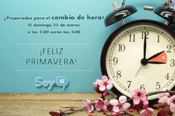 El 24 de marzo los relojes se adelantarán una hora