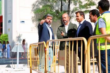 El presidente en funciones de la Comunidad, Pedro Rollán, y el regidor, José de la Uz, visitaron las obras de rehabilitación