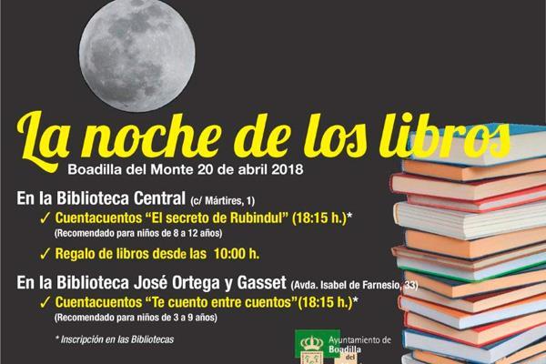 Las bibliotecas municipales celebrarán La Noche de los Libros con cuentacuentos y regalos