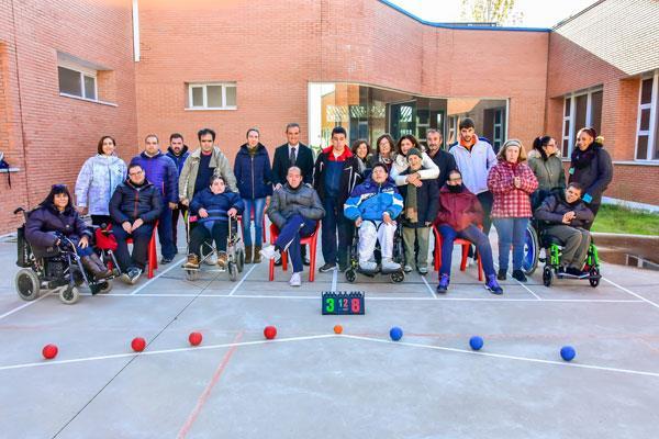 Primera pista de Boccia en Torrejón de Ardoz para personas con diversidad funcional