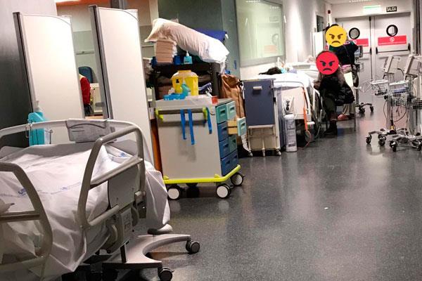 Las urgencias del Hospital Puerta de Hierro, saturadas