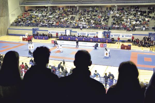 El Pabellón Europa de Leganés, sede del mejor karate nacional