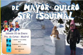 Esta excursión al Puerto Cotos de Madrid  tendrá lugar el día 20 de enero