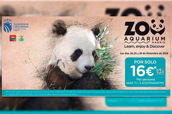Los días 26, 29 y 30 de diciembre los fuenlabreños contarán con descuentos exclusivos en el Zoo Aquarium de Madrid