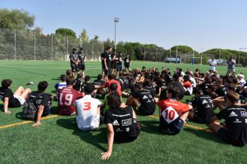 Los all Black imparten su clinic en Pozuelo de alarcón
