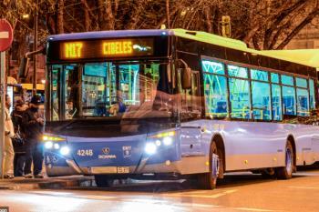 Los autobuses nocturnos de EMT reducen sus horarios durante todo agosto