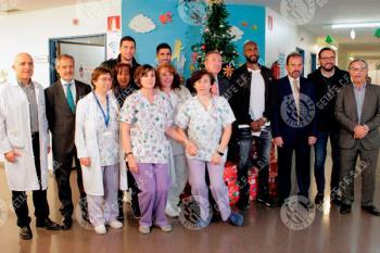 Visitaron la planta de pediatría del Hospital Universitario de Getafe