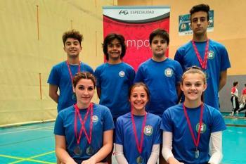 La categoría Sub-15 del Gimnástico Getafe se proclamó subcampeón en trampolín