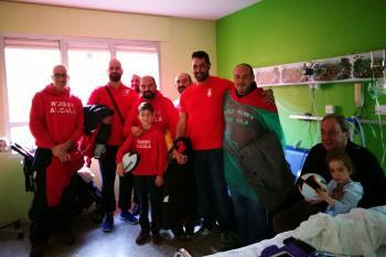 El equipo visitó el hospital Príncipe de Asturias por tercer año consecutivo