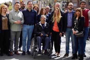 "El candidato a la Comunidad de Madrid espera que Leganés ""se tiña de naranja"" el próximo 26 de mayo"