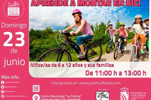 El municipio organiza una actividad para aprender a montar en bicicleta