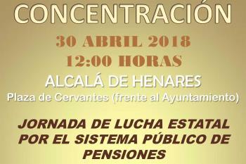 El grupo 'Pensionistas Complutenses' organiza una concentración el 30 de abril